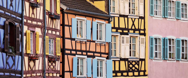 """Alte Häuser in Colmar, das auch als """"Kleines Venedig"""" bezeichnet wird"""