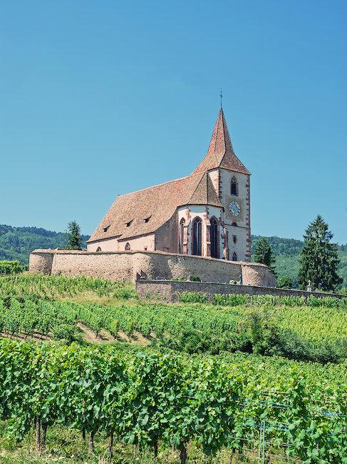 Kleine Kapelle in Hunawihr im Elsass