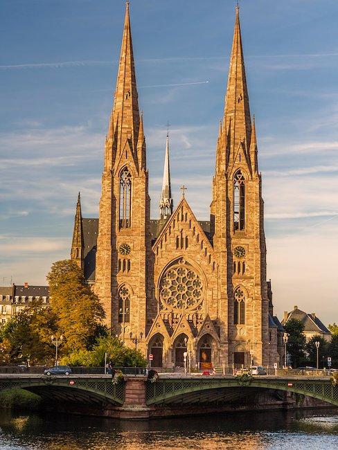 La Iglesia de St. Paul en Estrasburgo