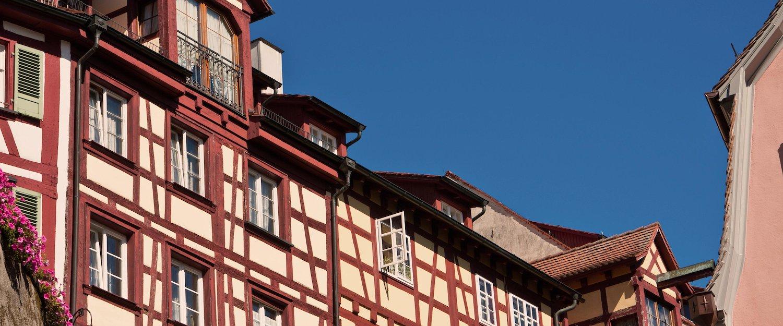 Fachwerkhäuser findet man häufig in Sinsheim