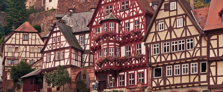 Typische Fachwerkshäuser in Unterfranken