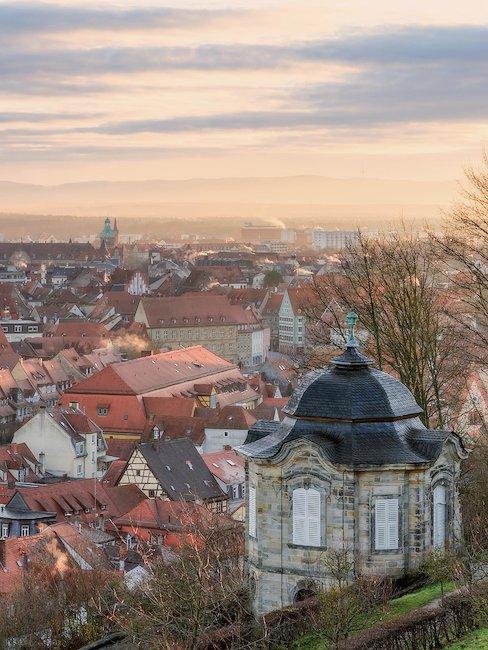 Het uitzicht op Bamberg