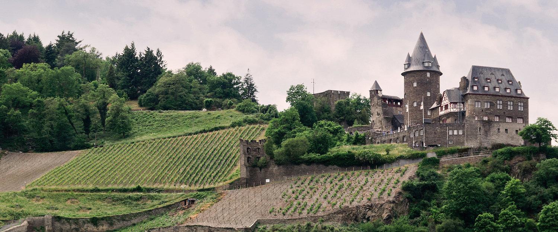 Die Höhenburg Stahleck im Mittelrheintal