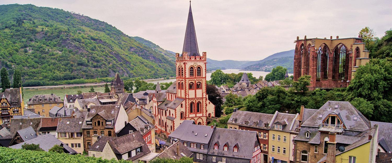 Blick auf die Weltkulturerbe-Stadt Bacharach