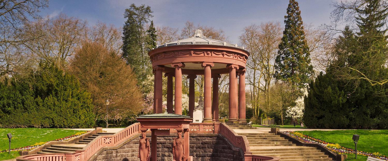 Tempel in het park van Bad Homburg