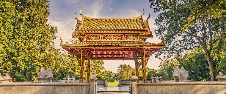 Sala Thai Paviljoen in het park van Bad Homburg