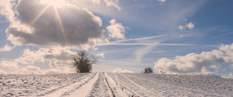 Winterlandschap in Oberhof