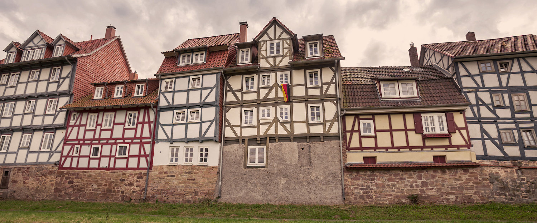 Typische Häuser in Ronshausen