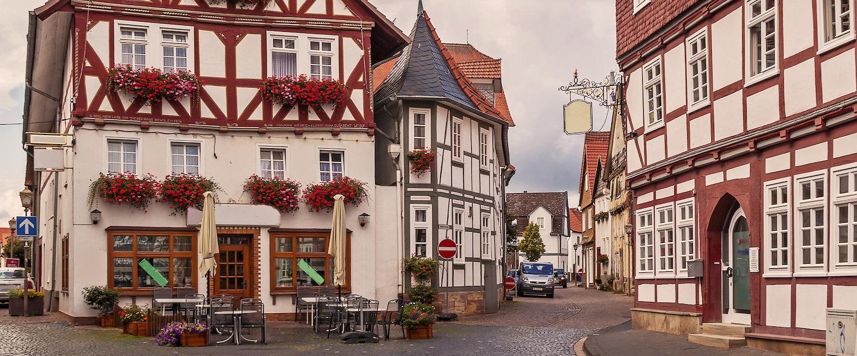 Typische Fachwerkhäuser in Fritzlar