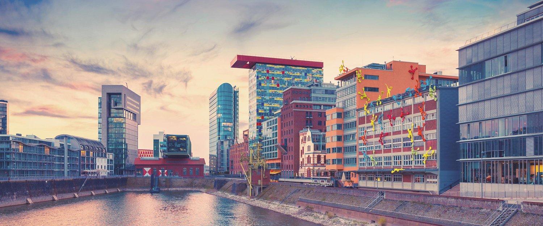 De mediahaven van Düsseldorf