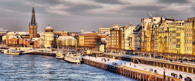 De oevers van de Rijn zijn ook op winterse dagen een belevenis.