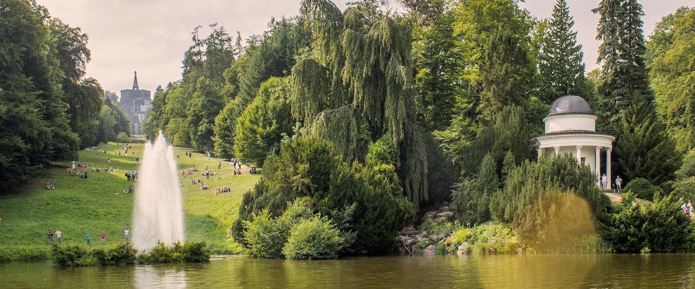 Het bergpark in Kassel.