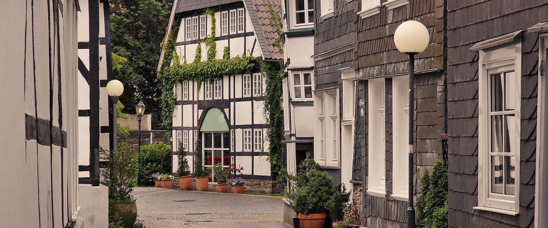 Traditionelle Fachwerkhäuser in der Altstadt von Hattingen