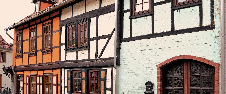 Typisch charmante Häuser im Harz