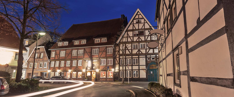 Altstadt von Lippstadt bei Nacht