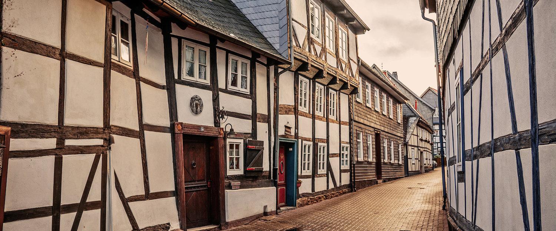 Typische charmante Häuser in Clausthal-Zellerfeld