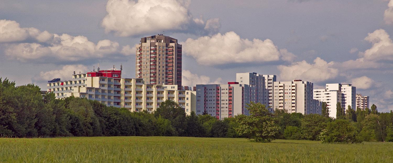 Blick von Großziethen auf Gropiusstadt