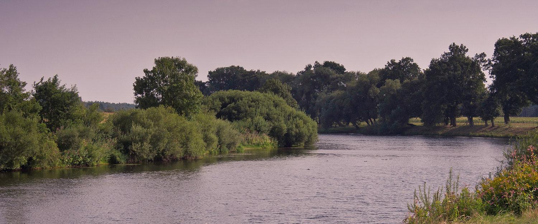 Fluss Ems im Abendlicht