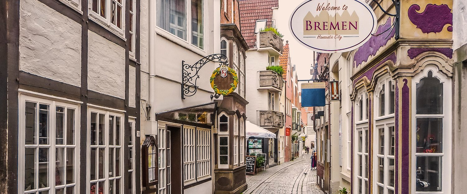 The beautiful Schnoorviertel in Bremen