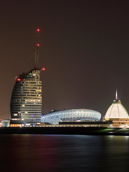 Bremerhaven bij nacht