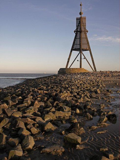 Das Wahrzeichen von Cuxhaven: Die Kugelbacke.