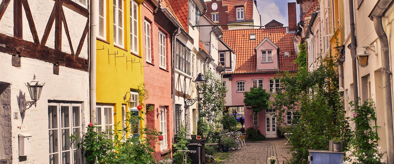 Romantische oude binnenstad van Lübeck