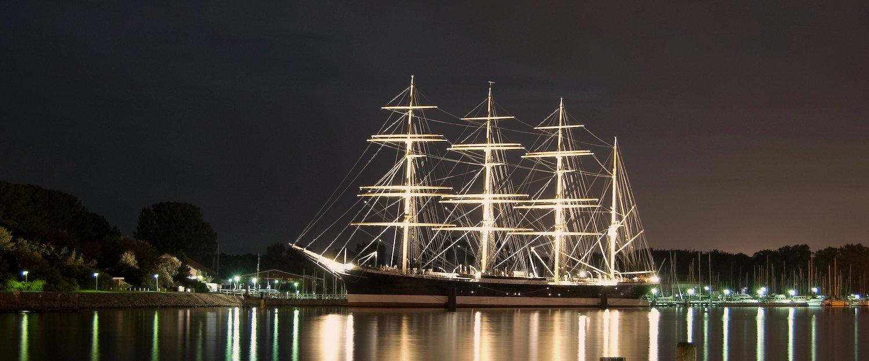 """Eines der Wahrzeichen von Travemünde: Das historische Segelschiff """"Passat"""""""
