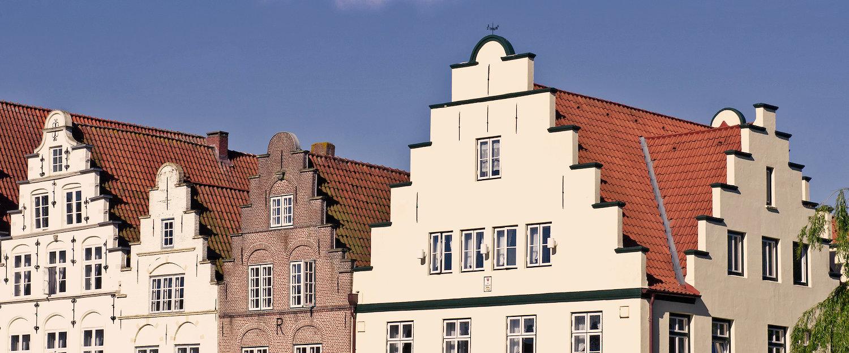 Typische Häuserbauten in Schleswig-Holstein