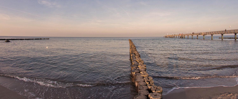 Fußgängersteg in die Ostsee bei Kühlungsborn