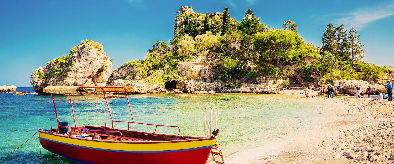 Paseo en barco en Taormina