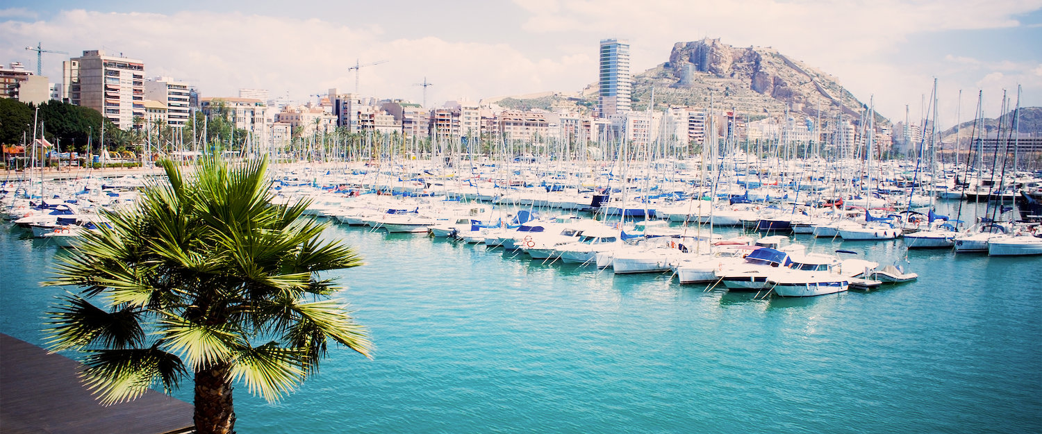 Yachts in the port of Alicante