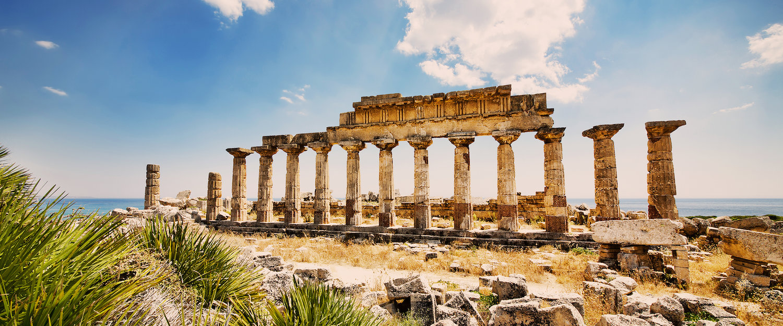 Un templo en ruinas de Trapani