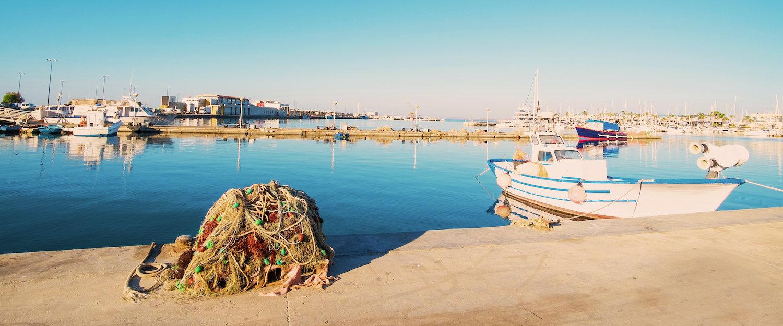 Barcos y mar en Santa Pola