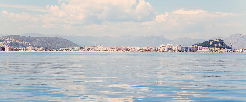 La vista de Dénia desde el mar