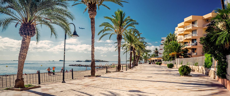Blick auf Küste Ibizas
