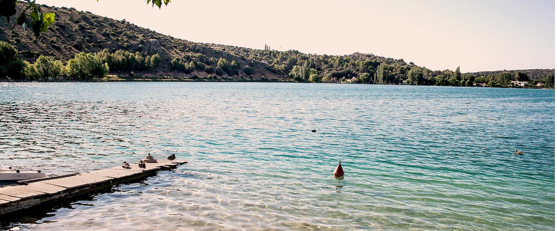 Muella en la Laguna del Rey en las Lagunas de Ruidera