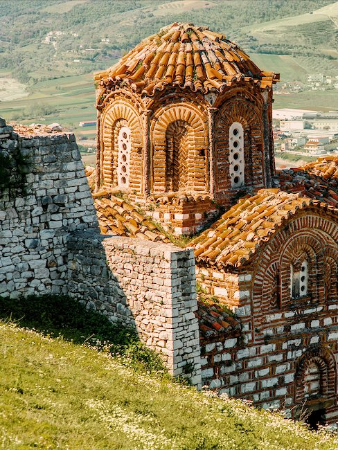 Stylish church St. Theodore in Albanian Berat