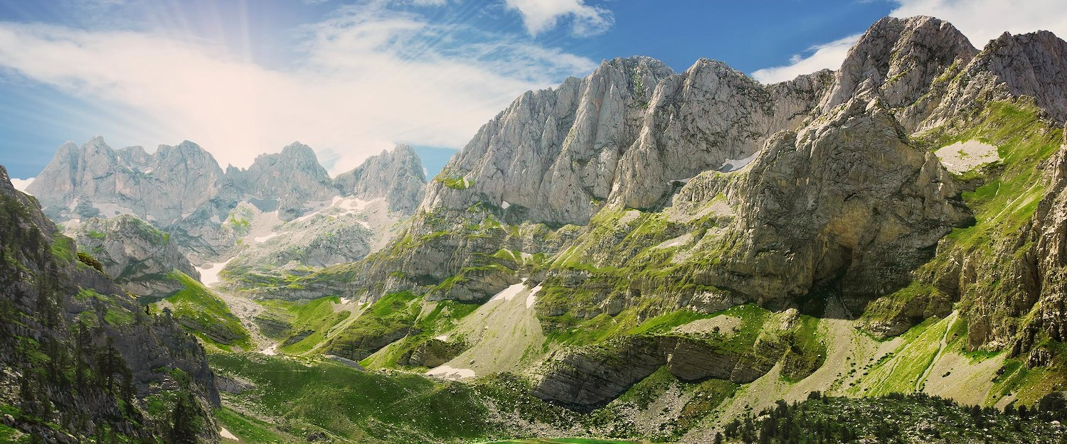Mountain landscape in Albania