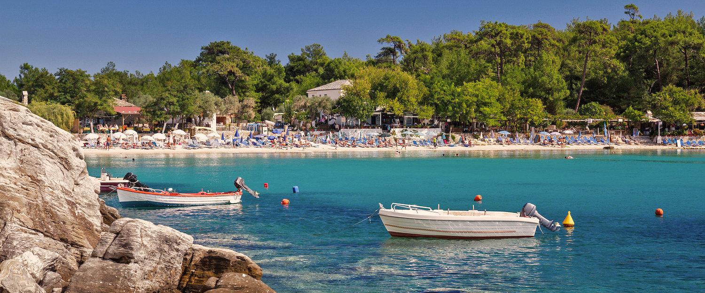 Aliki beach in Thassos