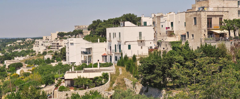 Idyllische weiße Häuser von Cisternino