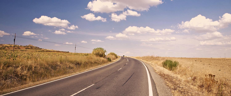 Zona aislada en las carretera a El Espinar