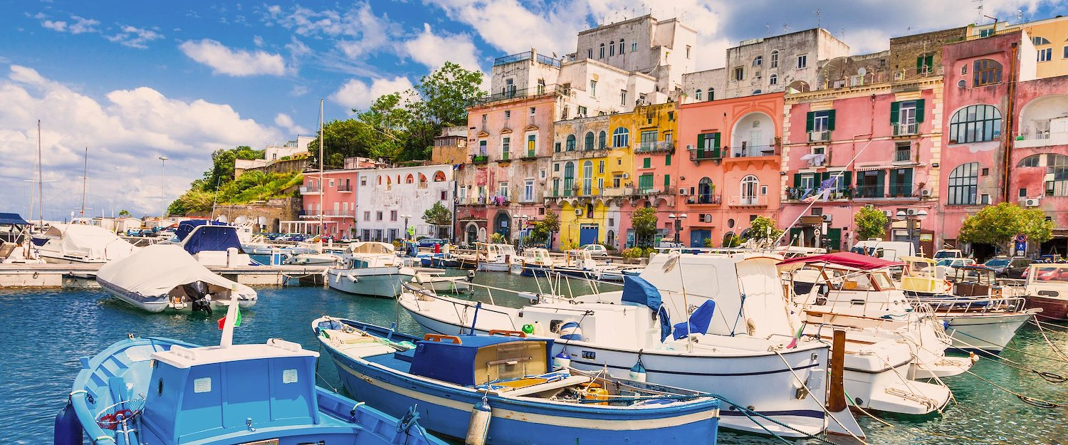 Small fishing port in Naples
