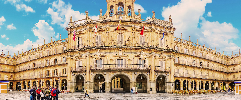 La famosa plaza mayor de Salamanca