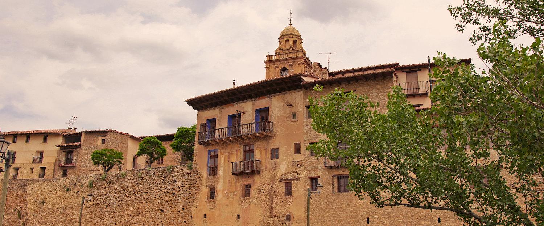Las fachas de Alcañiz que dan al río Guadalope