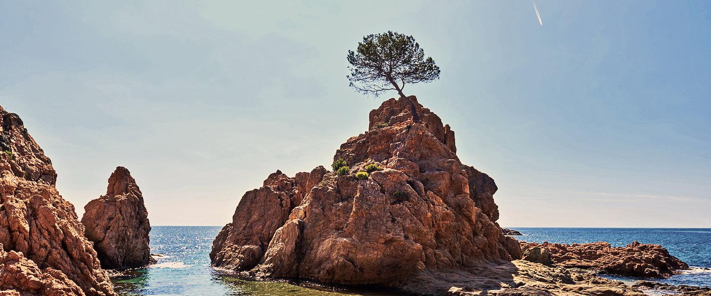 Típico paisaje de La Costa Brava