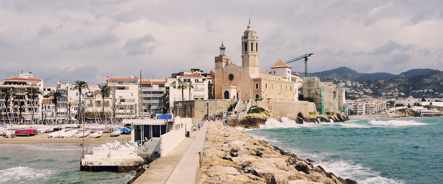 At the harbour of Sitges