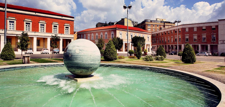 La fontana di Piazza del Popolo.