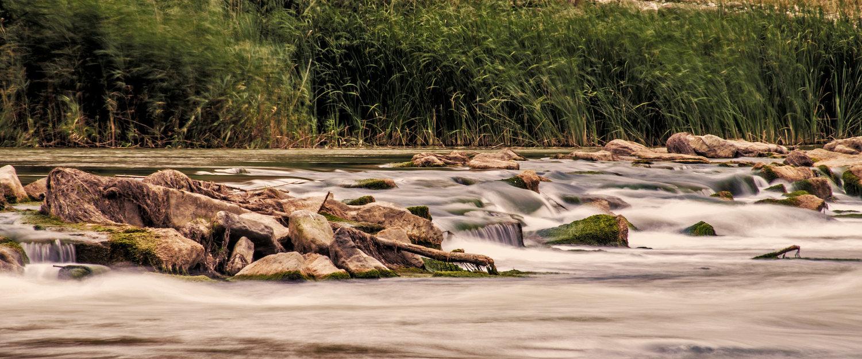 Las orillas del río Cinca en Fraga