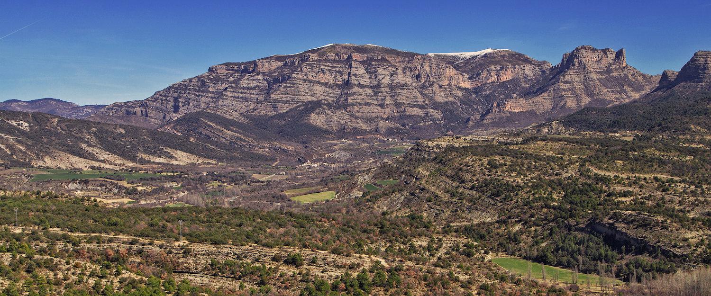 El paisaje de los alrededores de Fraga