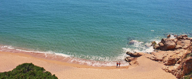 Playa Roca Grossa en Calella
